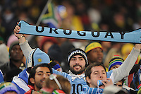 The minority of Uruguaian fans nonetheless showed support for their side during pre-game. Uruguay defeated South Africa, 2-0, in both teams' second match of play in Group A of the 2010 FIFA World Cup. The match was played at Loftus Versfeld in Pretoria, South Africa June 16th.