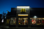 Fast-food chain McDonald's will report it's third-quarter earnings