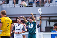 Harry Hansen throws in to a lineout during the 2021 Bunnings Super Rugby Aotearoa Under-20 rugby match between the Hurricanes and Highlanders at Owen Delaney Park in Taupo, New Zealand on Tuesday, 14 April 2021. Photo: Dave Lintott / lintottphoto.co.nz