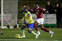 Mekhi Mcleod of Haringey Borough during David Olufemi of Haringey Borough during Haringey Borough vs Potters Bar Town, Pitching In Isthmian League Premier Division Football at Coles Park Stadium on 28th September 2021