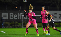 Megane Vos (20) of Sporting Charleroi pictured during a female soccer game between Sporting Charleroi and SV Zulte-Waregem on the 12 th matchday of the 2020 - 2021 season of Belgian Scooore Womens Super League , friday 29 th of January 2021  in Marcinelle , Belgium . PHOTO SPORTPIX.BE | SPP | DAVID CATRY
