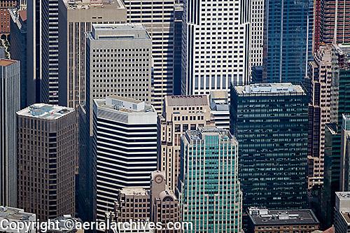 aerial photograph skyscrapers San Francisco