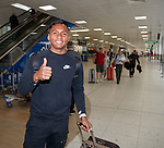 14.05.2018 Alfredo Morelos leaving on holiday with his family after the end of the season at Rangers