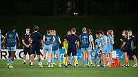 31st August 2021; Estadio Afredo Di Stefano, Madrid, Spain; Women's Champions League, Real Madrid CF versus Manchester City Football Club; Manchester City team discuss the game after the match