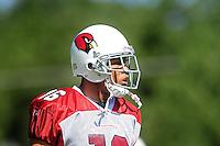 Jul 31, 2009; Flagstaff, AZ, USA; Arizona Cardinals wide receiver Edward Grant during training camp on the campus of Northern Arizona University. Mandatory Credit: Mark J. Rebilas-
