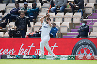 Jasprit Bumrah, India takes the catch at deep square leg to dismiss Kyle Jamieson, New Zealand off Mohammad Shami, India during India vs New Zealand, ICC World Test Championship Final Cricket at The Hampshire Bowl on 22nd June 2021