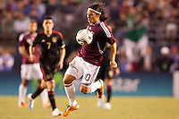 Venezuelan forward Jesus Gomez (10) moves to the goal. The national teams of Mexico and Venezuela played to a 1-1 draw in an International friendly match at  Qualcomm stadium in San Diego, California on  March 29, 2011...