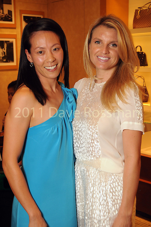 Ting Bresnahan and Lindley Arnoldy at an evening honoring The Houston Symphony Young Associates Council at the Louis Vuitton store in the Galleria Thursday August 15, 2013.(Dave Rossman photo)