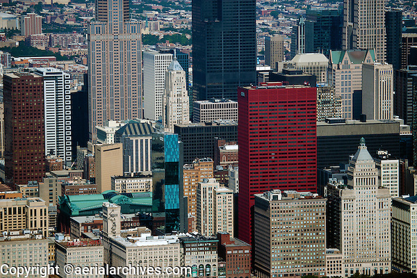 aerial photograph CNA Insurance Company headquarters, downtown Chicago, Illinois