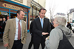 David Cameron, the Conservative Party leader visits Carmarthen today to meet local people and businesses during his visit to South Wales today..