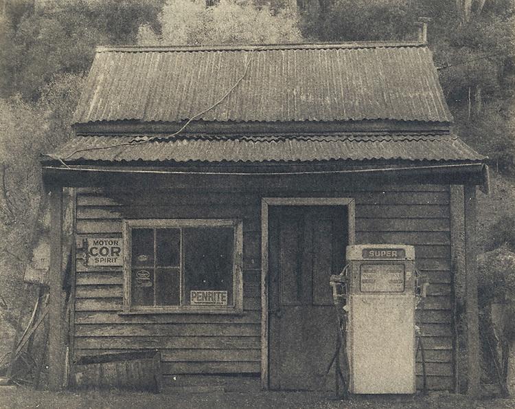 Old servo, Woods Point<br /> Cyanotype + Coffee toning