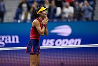 10th September 2021: Billie Jean King Centre, New York, USA: USA Open tennis championships, womens singles semi-final Emma Raducanu versus Maria Sakkari: