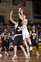 SAN ANTONIO, TX - FEBRUARY 23, 2008: The University of the Incarnate Word Cardinals vs. the St. Mary's University Rattlers Women's Basketball at Bill Greehey Arena. (Photo by Jeff Huehn)