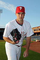 Feb 20, 2009; Clearwater, FL, USA; The Philadelphia Phillies pitcher Jake Woods (82) during photoday at Bright House Field. Mandatory Credit: Tomasso De Rosa/ Four Seam Images