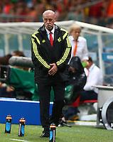 Spain coach Vicente Del Bosque reacts on the touchline