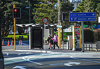 Hunter Street, Wellington CBD, at 9am, Tuesday during Level 4 lockdown for the COVID-19 pandemic in Wellington, New Zealand on Tuesday, 31 August 2021.