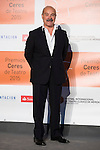 Antonio Resines poses for the photographers during 2015 Theater Ceres Awards photocall at Merida, Spain, August 27, 2015. <br /> (ALTERPHOTOS/BorjaB.Hojas)