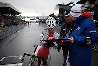 doping-controle for Olga Wasiuk (POL)<br /> <br /> Elite Women's race<br /> UCI 2016 cyclocross World Championships