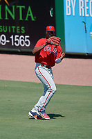 Philadelphia Phillies right fielder Jefferson Encarnacion (35) during an Instructional League game against the Toronto Blue Jays on September 17, 2019 at Spectrum Field in Clearwater, Florida.  (Mike Janes/Four Seam Images)
