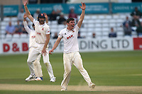 Daniel Lawrence of Essex claims the wicket of Toby Roland-Jones during Essex CCC vs Middlesex CCC, Specsavers County Championship Division 1 Cricket at The Cloudfm County Ground on 29th June 2017