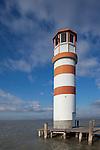 Leuchtturm, light house, Podersdorf, Seewinkel, Bezirk Neusiedl am See, Burgenland, Austria, Österreich