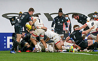 Monday 9th November 2020 | Ulster Rugby vs Glasgow Warriors<br /> <br /> John Andrews scores during the Guinness PRO14 Round 5 match between Ulster Rugby and Glasgow Warriors at Kingspan Stadium in Belfast, Northern Ireland. Photo by John Dickson / Dicksondigital