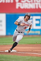 Altoona Curve Hunter Owen (10) running the bases during an Eastern League game against the Erie SeaWolves on June 5, 2019 at UPMC Park in Erie, Pennsylvania.  Altoona defeated Erie 6-2.  (Mike Janes/Four Seam Images)
