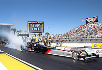 Mar. 16, 2013; Gainesville, FL, USA; NHRA top fuel dragster driver Larry Dixon during qualifying for the Gatornationals at Auto-Plus Raceway at Gainesville. Mandatory Credit: Mark J. Rebilas-