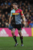 James Horwill of Harlequins reacts as he is sin binned during the Premiership Rugby match between Harlequins and Saracens - 09/01/2016 - Twickenham Stoop, London<br /> Mandatory Credit: Rob Munro/Stewart Communications