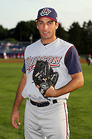 July 4th 2008:  Diego Echeverria of the Hudson Valley Renegades, Class-A affiliate of the Tampa Bay Rays, during a game at Dwyer Stadium in Batavia, NY.  Photo by:  Mike Janes/Four Seam Images