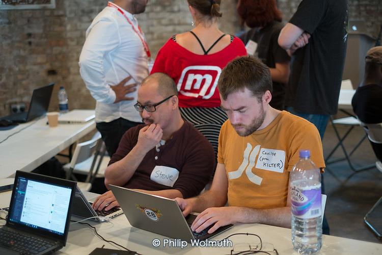 Momentum Hackathon.  Facilitator at collaborative election software development workshop, Shoreditch, London.