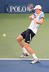 Kevin Anderson (RSA) loses to Stanislas Wawrinka (SUI) 6-4, 6-4, 6-0 at the US Open in Flushing, NY on September 9, 2015.