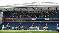 Bolton Wanderers' supporters high up in the Darwen end.<br /> <br /> Photographer Andrew Kearns/CameraSport<br /> <br /> The EFL Sky Bet Championship - Blackburn Rovers v Bolton Wanderers - Monday 22nd April 2019 - Ewood Park - Blackburn<br /> <br /> World Copyright © 2019 CameraSport. All rights reserved. 43 Linden Ave. Countesthorpe. Leicester. England. LE8 5PG - Tel: +44 (0) 116 277 4147 - admin@camerasport.com - www.camerasport.com