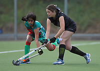 Action from the 2020 Lower North Island Girls Hockey Championship match between Onslow College and Hutt Valley High School at National Hockey Stadium in Wellington, New Zealand on Tuesday, 1 September 2020. Photo: Dave Lintott / lintottphoto.co.nz
