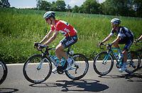 Tony Martin (DEU/OPQS) in red (overall leader)<br /> <br /> 2014 Belgium Tour<br /> stage 4: Lacs de l'Eau d'Heure - Lacs de l'Eau d'Heure (178km)