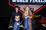 Kenzie Kelton, Denton Dunning, during the Team Roping Back Number Presentation at the Junior World Finals. Photo by Andy Watson. Written permission must be obtained to use this photo in any manner.