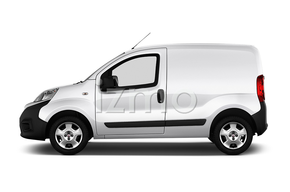 Car Driver side profile view of a 2017 Fiat Fiorino Pack 4 Door Car Van Side View