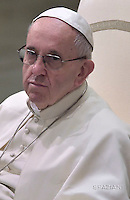 Pope Francis during his weekly general audience at the Paul VI audience hall, at the Vatican.on November 23, 2016