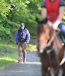 Trainer Graham Motion at the Fair Hill Training Center on May 11, 2011 in Fair Hill, Maryland.