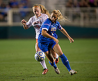 Makenzy Doniak, Abby Dahlkemper. UCLA advanced on penalty kicks after defeating Virginia, 1-1, in regulation time at the NCAA Women's College Cup semifinals at WakeMed Soccer Park in Cary, NC.