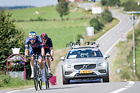breakaway duo Jonas Rickaert (BEL/Alpecin-Fenix) & Geraint Thomas (GBR/INEOS Grenadiers)<br /> <br /> 17th Benelux Tour 2021<br /> Stage 6 from Ottignies/Louvain-la-Neuve to Houffalize (BEL/208km)<br /> <br /> ©kramon