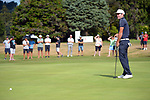 Josh Geary sees his putt just miss the 18th during the final. Day four of the Brian Green Property Group NZ Super 6s Manawatu at Manawatu Golf Club in Palmerston North, New Zealand on Sunday, 28 February 2021. Photo: Dave Lintott / lintottphoto.co.nz