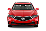 Car photography straight front view of a 2018 Acura RLX - 4 Door Sedan Front View