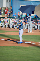 Brandon Lewis (47) of the Ogden Raptors during the game against the Rocky Mountain Vibes at Lindquist Field on July 19, 2019 in Ogden, Utah. The Raptors defeated the Vibes 9-5. (Stephen Smith/Four Seam Images)