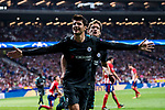 Alvaro Morata of Chelsea FC celebrates during the UEFA Champions League 2017-18 match between Atletico de Madrid and Chelsea FC at the Wanda Metropolitano on 27 September 2017, in Madrid, Spain. Photo by Diego Gonzalez / Power Sport Images