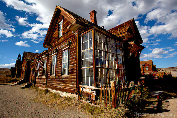 Street view of the bottle house in Bodie California