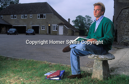 Tara Getty, a member of the Getty family. when a  student at Cirencester Royal Agricultural College, Gloucestershire. UK 1990s.