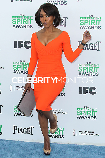 SANTA MONICA, CA, USA - MARCH 01: Angela Bassett at the 2014 Film Independent Spirit Awards held at Santa Monica Beach on March 1, 2014 in Santa Monica, California, United States. (Photo by Xavier Collin/Celebrity Monitor)