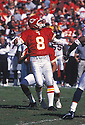 Kansas City Chief Morton Andersen (8) during a game against the Denver Broncos at Arrowhead Stadium in Kansas City, Missouri.  The Broncos beat the Chiefs 37-34. Morton Andersen  played for 25 years with 5 different team and was a 7-time Pro Bowler.