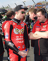 Glen Irwin of Be Wiser Ducati Racing Team on the grid for race two of the MCE British Superbikes in Association with Pirelli round 12 2017 - BRANDS HATCH (GP) at Brands Hatch, Longfield, England on 15 October 2017. Photo by Alan  Stanford / PRiME Media Images.